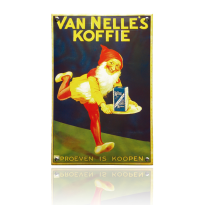 NO-76-KO emaille reclamebord 'VanNelle'