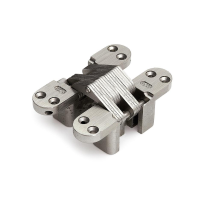 Onzichtbaar scharnier SOSS ronde hoek nikkel 117,5x28,6 mm, zware toepassing
