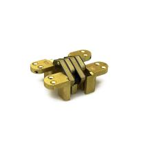 Onzichtbaar scharnier SOSS ronde hoek vermessingd 117,5x28,6 mm, zware toepassing