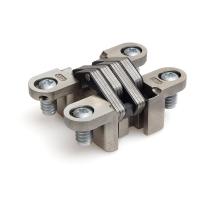 Onzichtbaar scharnier SOSS ronde hoek verstelbaar nikkel 117,5x28,6 mm