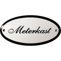 Ovaal deurbordje 'Meterkast', emaille