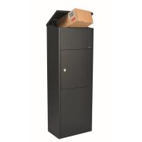 Pakketbrievenbus zwart, 1050x380x230 mm