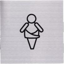 Pictogram 'Baby Verschoningsruimte' RVS vierkant