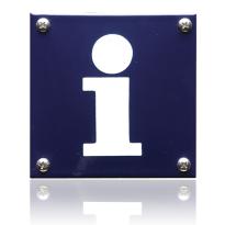 Pictogram emaille 'Informatie' vierkant