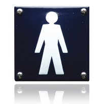 Pictogram emaille 'Herentoilet' vierkant