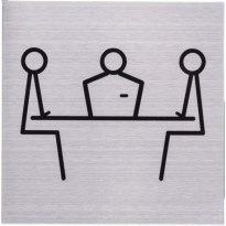 Pictogram RVS 'Spreekruimte'  vierkant