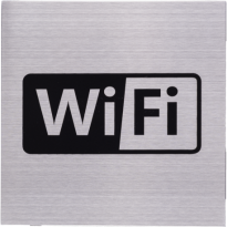 Pictogram RVS 'Wifi' vierkant