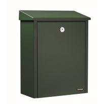 Postkast groen, 390x280x150 mm