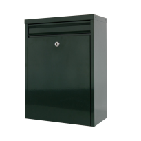 Postkast groen, 470x340x170 mm