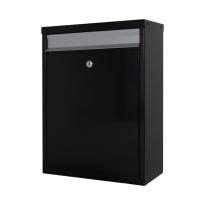 Postkast zwart/zilver, 470x340x170 mm