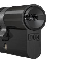 Profielcilinder DOM ix Twido SKG*** modulair, halve cilinder zwart