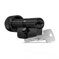Profielcilinder DOM ix Twido SKG*** modulair, knopcilinder zwart