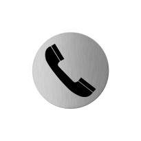 RVS pictogram 'Telefoon' rond