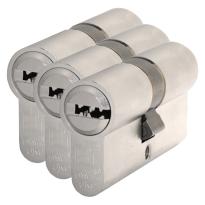 S2 antikerntrek veiligheidscilinders F6 gelijksluitend per 3, 30/45