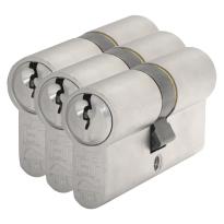 S2 antikerntrek veiligheidscilinders S6 gelijksluitend per 3, 30/45
