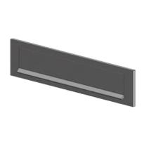 S2 briefplaat aluminium F1