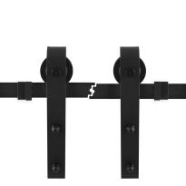 Schuifdeursysteem industrieel zwart 2 x 100 cm schuifdeurrail