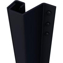 SecuStrip Plus buitendraaiend antraciet, 2300mm, terugligging 0-6mm