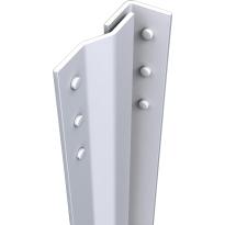 SecuStrip Basic binnendraaiend wit, 2050mm, terugligging 0-0mm