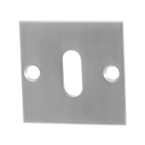 Sleutelrozet GPF0901.08 50x50x2mm RVS geborsteld