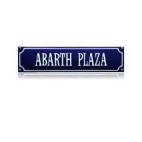 SS-01 emaille straatnaambord 'Abarth Plaza'