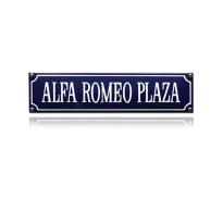 SS-04 emaille straatnaambord 'Alfa romeo plaza'