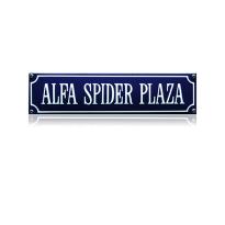 SS-05 emaille straatnaambord 'Alfa spider plaza'