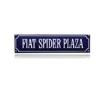 SS-29 emaille straatnaambord 'Fiat Spider Plaza'