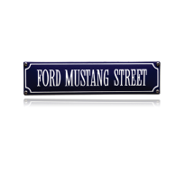 SS-30 emaille straatnaambord 'Ford Mustang Street'