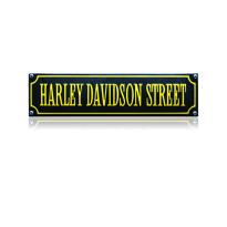 SS-37 emaille straatnaambord 'Harley Davidson street'