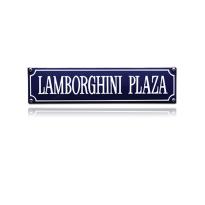 SS-48 emaille straatnaambord 'Lamborghini plaza'