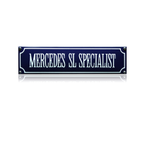 SS-55 emaille straatnaambord 'Mercedes sl specialist'