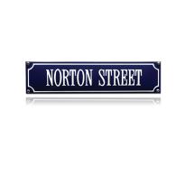 SS-65 emaille straatnaambord 'Norton Street'