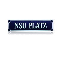 SS-66 emaille straatnaambord 'NSU platz'