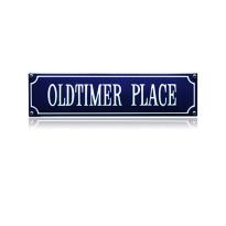 SS-67 emaille straatnaambord 'Oldtimer place'