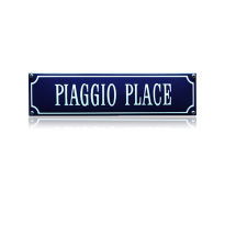 SS-69 emaille straatnaambord 'Piaggio place'