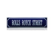 SS-78 emaille straatnaambord 'Rolls Royce street'