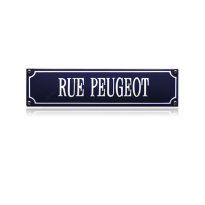 SS-81 emaille straatnaambord 'Rue Peugeot'