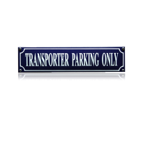 SS-87 emaille straatnaambord 'Transporter parking only'