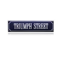 SS-88 emaille straatnaambord 'Triumph Street'