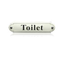 'Toilet' toilet bordje emaille gebold klassiek