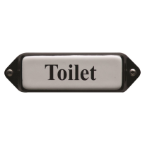 'Toilet' toilet bordje emaille model oor