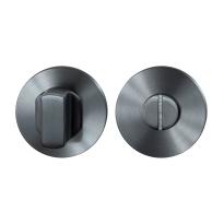 Toiletgarnituur GPF0910.00P1 50x8mm stift 8mm PVD antraciet grote knop