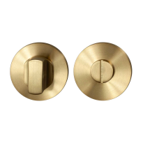 Toiletgarnituur GPF0910.00P4 50x8mm stift 8mm PVD mat messing grote knop