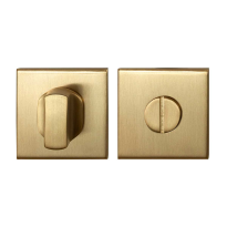 Toiletgarnituur GPF0910.02P4 50x50x8mm stift 8mm PVD mat messing grote knop