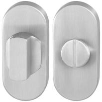 Toiletgarnituur GPF0910.04 70x32mm stift 8mm RVS geborsteld grote knop