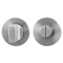Toiletgarnituur GPF0910.05 50x6mm stift 8mm RVS geborsteld grote knop