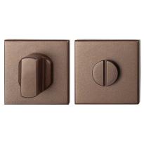 Toiletgarnituur GPF1102.A2.0910 50x50x8 mm stift 8 mm Bronze blend grote knop