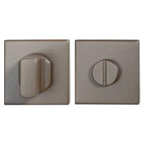 Toiletgarnituur GPF1102.A3.0910 50x50x8 mm stift 8 mm Mocca blend grote knop
