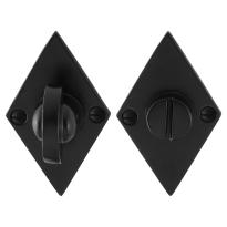 Toiletgarnituur GPF6910.07 83x52x4mm stift 8mm smeedijzer zwart